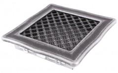 Решітка DECO срібна патина 16х16 см